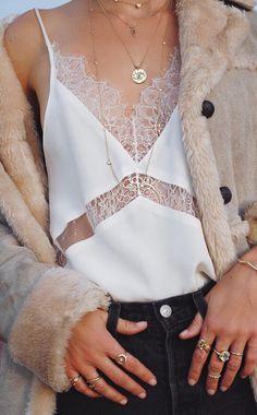 boho lace top & cozy coat