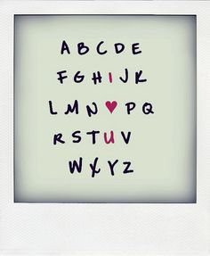 Love the alphabet with the I heart u in a different colour.  Not crazy about this font though - I would definitely change it.