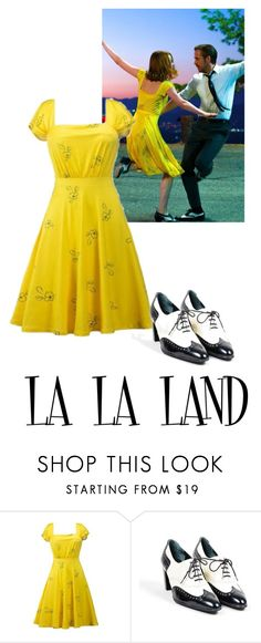 """LA LA LAND Emma Stone Mia's outfit"" by gleh5 ❤ liked on Polyvore featuring Robert Clergerie"