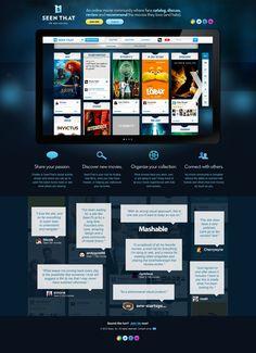 SeenTh.at Landing Page #webdesign #design