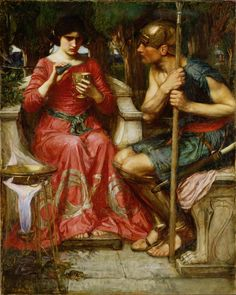 Jason and Medea:1907 by John William Waterhouse (Unknown Owner/Private Collection - Location Unknown) Pre-Raphaelite