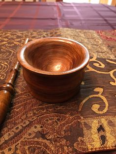 Small walnut bowl. Shellac finish.