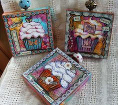 My Art Journal: Mixed Media Paintings love this ... ok, not actually inches.... but could be...