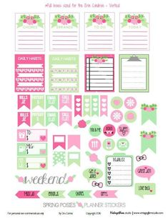 Spring Posies Planner Stickers | Free for personal use only - suitable for Erin Condren Life Planners - Vertical