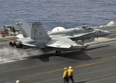 PACIFIC OCEAN (Nov. 1, 2012) – An F/A-18C Hornet assigned to the Death Rattlers of Marine Fighter Attack Squadron (VMFA) 323 launches from the flight deck of the aircraft carrier USS Nimitz (CVN 68). Nimitz is currently underway participating in its Composite Training Unit Exercise. (U.S. Navy photo by Mass Communication Specialist 3rd Class Ryan J. Mayes/Released)