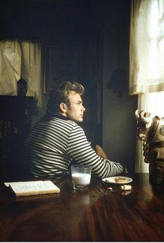 James Dean. striped shirt.