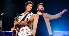 Kane Brown and Dan + Shay took to the CMA Fest stage with excitement and power for their first-ever performances in Nissan Stadium. Nissan Stadium, Cma Fest, Dan & Shay, Kane Brown, Beautiful Men Faces, Country Music Stars, Upcoming Events, Male Face, Stage