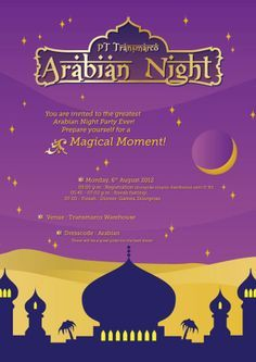 Arabian Nights Printable Invitation 02 By Mimorusa On Etsy