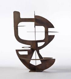 (cut sheet iron and welded single piece) by the Italian/French sculptor Berto Lardera Contemporary Sculpture, Contemporary Art, Statue Art, Sculpture Metal, Art Sculptures, Geometric Sculpture, Instalation Art, 3d Studio, Art Abstrait