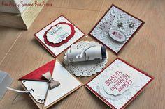 #Explosionsbox #Weihnachten #Gutschein #stampinup #christmas #rot #weiß