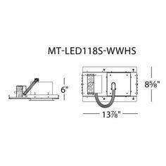 WAC Lighting MT-LED418S-35HS-WT Multiple Spot 3500K High Output LED Recessed Light Housing for New Construction - IC Rated, Silver aluminum