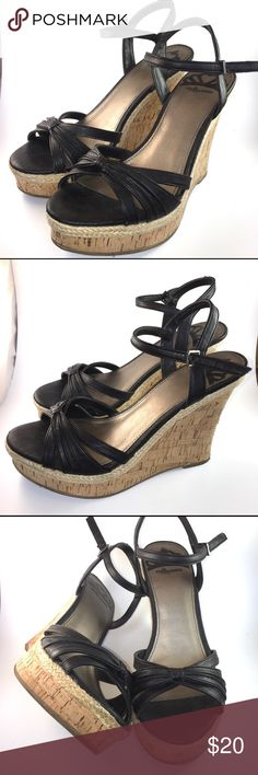 """Cute Fergalicious wedges Gorgeous Fergie wedges! Gently worn and clean. 4.75"""" height. Great for summer  Any questions, just ask! (No trades) Fergalicious Shoes Wedges"""