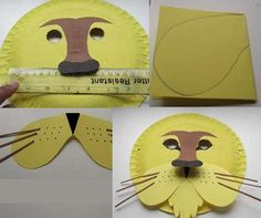 Lion King themed birthday party.  Kids craft / activity ideas.   Lion mask - would add feathers or some kind of trim/fringe at the top
