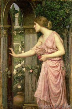 John William Waterhouse - Psyche entering Cupid's Garden, 1903