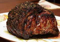 For the gourmet cook that lives in many of us, here's how to cook a perfect Roast Prime Rib of Beef! ROAST PRIME RIB OF BEEF 1 pound prime rib roast of beef bones) There are no measu… Rib Recipes, Roast Recipes, Cooking Recipes, Smoker Recipes, Recipies, Sirloin Recipes, Game Recipes, Tofu Recipes, Healthy Recipes