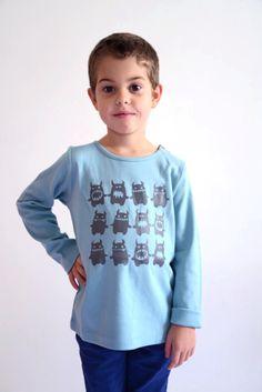 La queue du chat tee shirt in organic cotton
