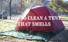 One of the worst camping experiences I've had is having to sleep in a tent that smells, so I did a little research to find out what causes these smells. I found that the biggest problem is the growth of mildew and mold, and this most often occurs when the tent is stored wet. Soaking the tent in a mixture of white vinegar, lemon juice, and water will kill the smell, and then you can pitch to give it a proper clean. Remember to leave it to dry before packing it away. White Vinegar, Me Clean, Pitch, Outdoor Gear, Tent, How To Find Out, Juice, Lemon, Packing