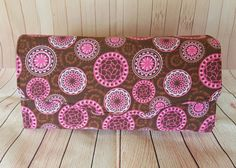 Pink Medallion Necessary Clutch Wallet by Barouchette on Etsy