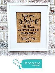 Bird art, Birds of a feather, Bird print, Love birds, personalized print, wedding, anniversary #weddingsigns