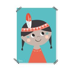 A4 Poster Indianer Mädchen / native girl Poster by Julica