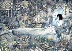 Howl's Room by pseudozufall on DeviantArt New Year 2017, Howls Moving Castle, Hayao Miyazaki, Anime, Deviantart, Watercolor, Art Prints, Illustration, Artwork