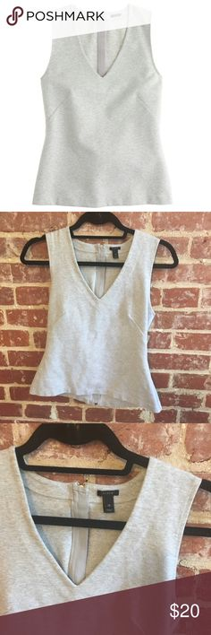 J. Crew Gray Structured Zipper Top Size XS. Great condition! J. Crew Tops Tank Tops