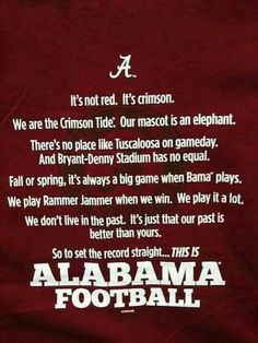 This is....... Alabama Football !!!!!