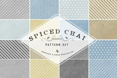Spiced Chai Digital Paper Set by Feather & Sage Design on @creativemarket