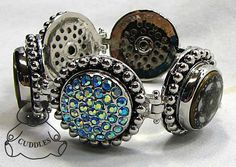 ginger+snaps+jewelry | Snap Metal Bracelet Ginger Snaps Button Charm Jewelry Adjustable N90 ...