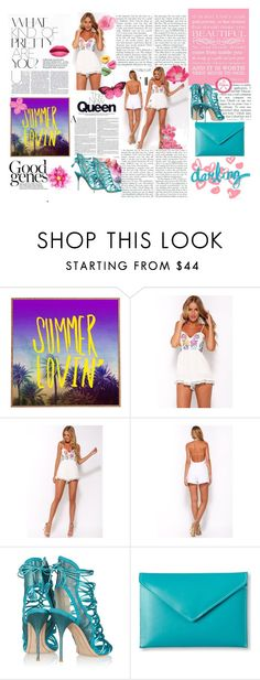 """""""summer <3"""" by medina-93 ❤ liked on Polyvore featuring DENY Designs, Sophia Webster and Under Cover"""