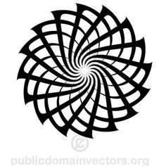 Circular vector shape for logo design or decorative designs. Vector Pattern, Pattern Art, Stencil Decor, Stencils, Black And White Art Drawing, Geometric Sleeve Tattoo, Jewelry Design Drawing, Spirograph, Beautiful Nature Pictures