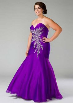 2015 Chiffon Sweetheart Lace Up Appliques Purple Red Ruched Sleeveless Mermaid Homecoming / Plus Size Dresses Fabulouss 48010