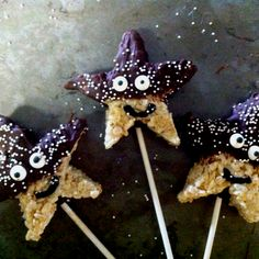 Starfish rice crispy treats I made for my nieces Little Mermaid party.