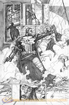 Punisher: Trial of the Punisher 1. Art by Leinil Yu.