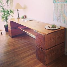 rustic, simple desk. maybe too simple with no drawers