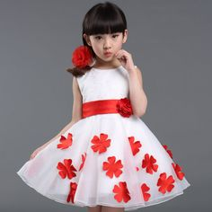 Roupas Infantis Menina 2016 New Fashion Summer Red Girl Dress Sleeveless Chiffon Flower Tutu Layered Princess Bow Kids Dresses - http://fashionfromchina.net/?product=roupas-infantis-menina-2016-new-fashion-summer-red-girl-dress-sleeveless-chiffon-flower-tutu-layered-princess-bow-kids-dresses