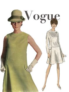 1960s Vogue Couturier 1824 OnePiece Drop by DesignRewindFashions, $45.00