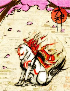 Love the game, love the style, love the art.  If you haven't played it yet - check out Okami for the PS2