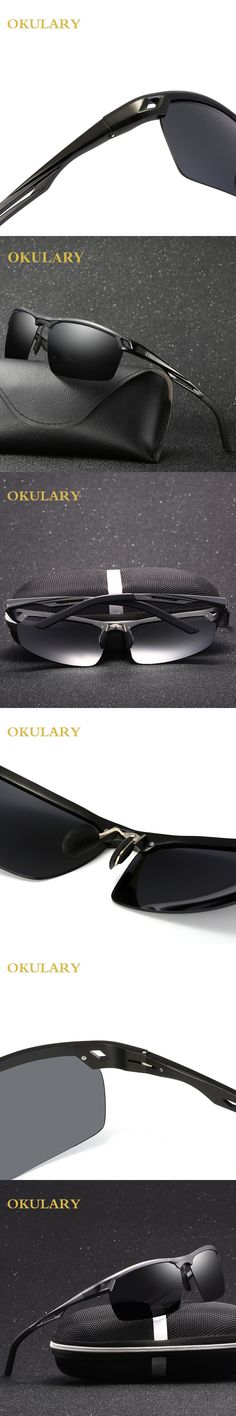 2017 NEW Men's 100% UV400 Polarized Aluminum Magnesium rectangle Sunglasses Driving Day night vision Sun Glasses Eyewear Goggles