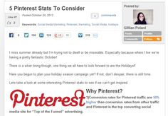 5 Pinterest Stats To Consider