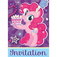 My Little Pony Party Invitations [8 Per Pack]