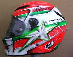 AGV Helmet Art Design #161 ~ Hand Painted Helmets - Design your helmet today..!!