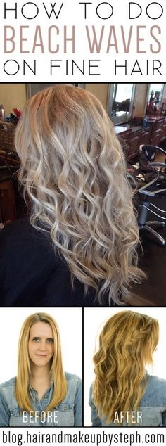 Beach Waves for Fine Hair