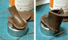 Беспокоиться о нижней части обуви - от пошива кожаных сапогах из бумажного производства ...: таких, как кожа с кожей игровой основе