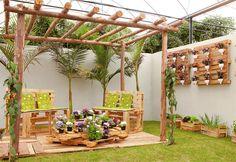 pergolas jardines rusticos