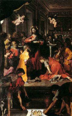 The Institution of the Eucharist by Federico Fiori Barocci, 1608