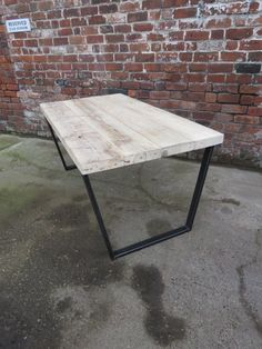 Reclaimed Industrial Chic Cube Wood & Metal Desk  Each table is handmade for each and every customer Made from reclaimed timber and heavy duty 50x25mm