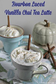 Bourbon Laced Vanilla Chai Tea Latte by Cooking in Stilettos | This bourbon laced vanilla chai tea will heat up even the chilliest nights. You'll forget about using premade chai mix once you sip this homemade chai.