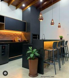 Home Design Decor, Interior Design, Home Decor, Roof Design, House Design, Architect House, Bar Furniture, Bars For Home, House Colors
