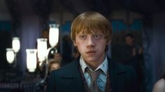 Ron looking lovingly and longingly at Hermione at Bill and Fleur's wedding.